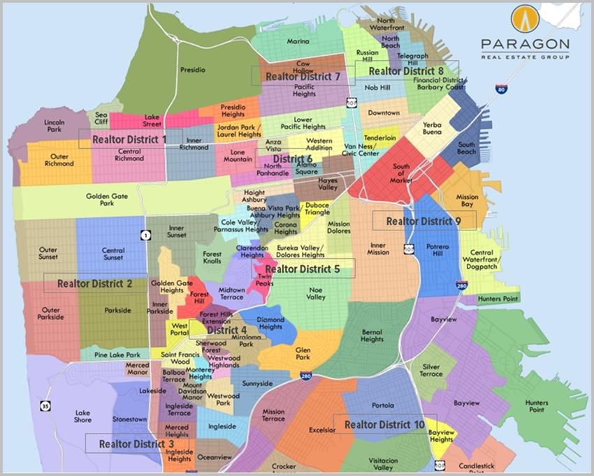 San Francisco Neighborhood & District Map